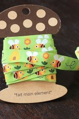 FREE SHIPPING - Woven Jacquard Trim Ribbon - Little Bees