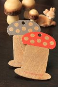 Wooden Bobbin Winding Board Thread Spool - Mushroom