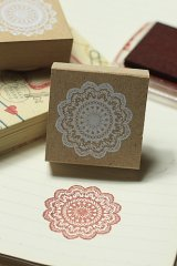 Super Cute Wooden Rubber Stamp - Lace 01