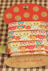 FREE SHIPPING - Woven Jacquard Trim Ribbon - Little Owl