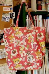 Free Shipping Handmade ECO-Friendly Shopping Bag Tote - Cute Vintage Toys