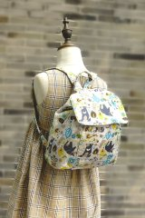 Free Shipping Backpack for School Kindergarten Kids Handmade by Japanese Kokka Fabric