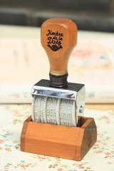 Antique Style Wooden Roller Date Stamp with Stand