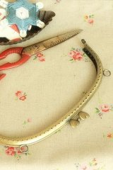 "Antique Brass Purse Frame Kisslock with Hoops - 20.5cm (8.2"")"