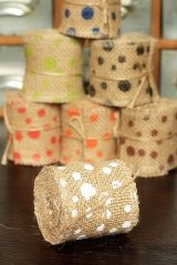 "SALE - Natural Wide Linen Ribbon Roll Rustic Vintage Wedding Decor (6cm x 2m or 2.4"" x 2.2 yds)"