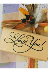 Super CuteWooden Rubber Stamp - Love You