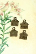 Lovely Alloy Accessory Charm - house