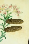 Lovely Alloy Accessory Charm - believe