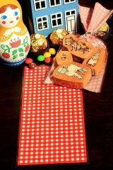 Kawaii Gift Wrapping Candy Bag - Red Gingham (10p)