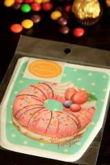 Kawaii Gift Wrapping Candy Bag - Donuts Green (10bags+10stickers)