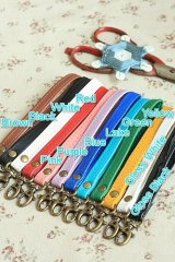 Kawaii Candy Color PU Leather Bag Handle with One Lobster Claw Clasp