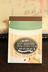 Japanese Kawaii Mini Note Memo Pad - Coffee