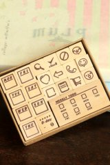 Wooden Rubber Stamp Set - Weekly Planner Life