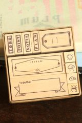 Wooden Rubber Stamp Set - Todo Weather Planner