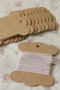 ECO Brown Kraft Goods - Hard Craft Paper Board Thread Spool - 10p