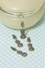 Antique Style Bronze Charms - Violin