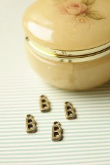 FREE SHIPPING - Antique Style Bronze Charms - Alphabet B