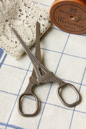 Photo2: Antique Style Craft Scissors - Eiffel Tower