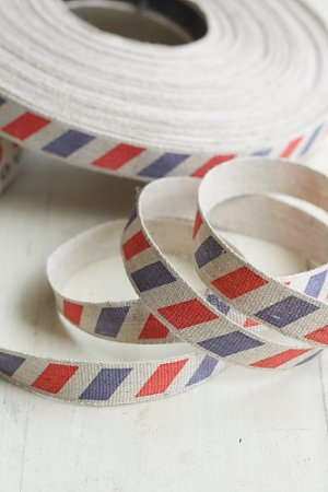 Photo1: Cotton Linen Blended Ribbon - Mail (1.5cm x 1 yard)