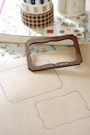 Photo3: Antique Style ECO Wood Label Template - A/B