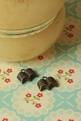 SALE - Antique Style Bronze Charms - Little Book