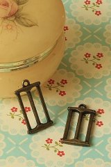 SALE-Antique Style Bronze Charms - Little Saw