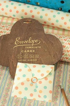 Photo2: Antique Style ECO Envelope Template - Diy Gift Box