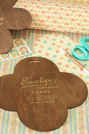 Photo1: Antique Style ECO Envelope Template - Diy Gift Box