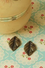 SALE-Antique Style Charms - Little Leaves 1.3cm x 2.3cm