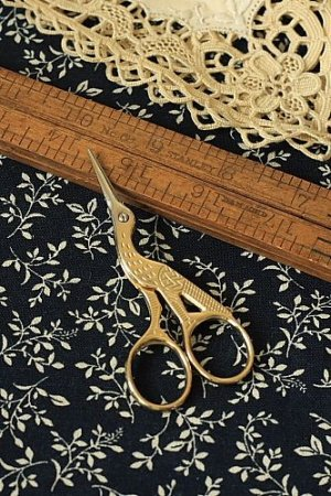 Photo1: Antique Style Scissors - E gold