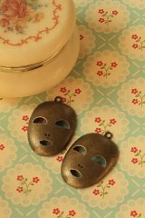 SALE-Antique Style Bronze Charms - Face Mask