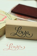 Super CuteWooden Rubber Stamp - Love