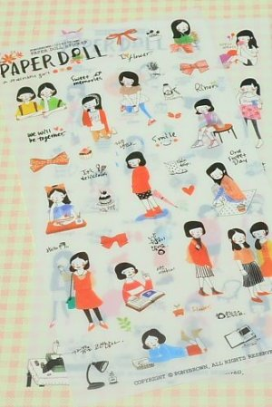 Photo4: Kawaii Pony Brown Deco Planner Sticker Pack -  Paper Doll