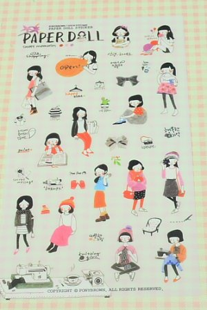 Photo2: Kawaii Pony Brown Deco Planner Sticker Pack -  Paper Doll