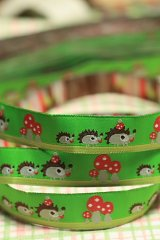 Woven Jacquard Trim Ribbon - Little Hedgehog