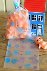 Kawaii Gift Wrapping Bag - Frosted Dots (10p)