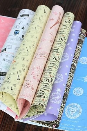 Photo3: Super Cute Gift Wrapping Paper Book