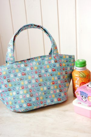 Photo1: Free Shipping Kawaii Japanese Insulated Lunch Bag Tote