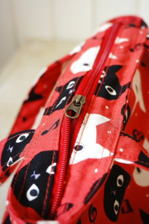 Photo2: Free Shipping Insulated Lunch Bag Tote by Kawaii Japanese Kokka Fabric