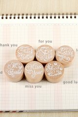 Cute Wooden Round Stamp