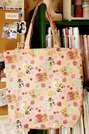Photo1: Kawaii Handmade ECO-Friendly Shopping Bag Tote - Cute Vintage Animals