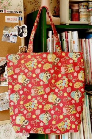 Photo1: Free Shipping Handmade ECO-Friendly Shopping Bag Tote - Cute Vintage Animals