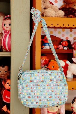 Photo2: Free Shipping Cute Handmade Japanese Kokka Fabric Shoulder Kids Bag - Little Owls