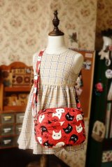 Free Shipping Cute Handmade Japanese Kokka Fabric Shoulder Women Bag - Little Cats