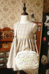 Free Shipping Cute Handmade Japanese Kokka Fabric Shoulder Kids Bag - Little Owls