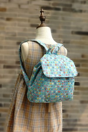 Photo1: Kawaii Japanese Handmade Backpack for School Kindergarten Kids