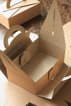 Photo3: Kraft Paper DIY Gift Wrapping Box (5 boxes)