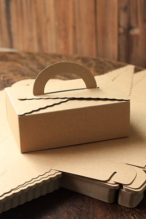 Photo1: Kraft Paper DIY Gift Wrapping Box (5 boxes)