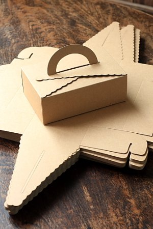 Photo2: Kraft Paper DIY Gift Wrapping Box (5 boxes)