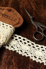 Cotton Lace Ribbon - 4cm x 1 Yard